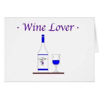 WINE LOVER_BLUE BOTTLE CARD
