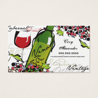 Wine Lover Business Card