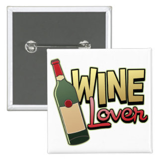 Wine Lover Button