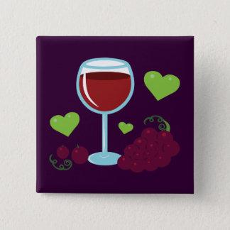 Wine Lover Button