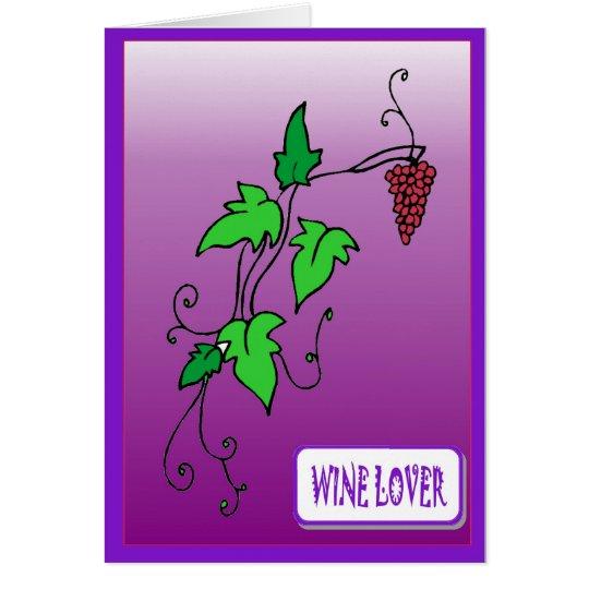 Wine lover card
