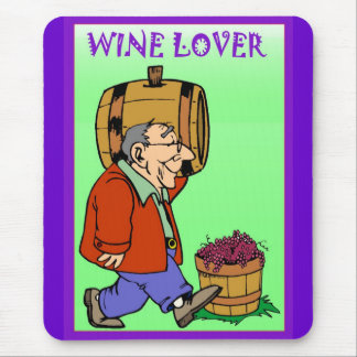Wine lover, carrying a barrel mouse pad