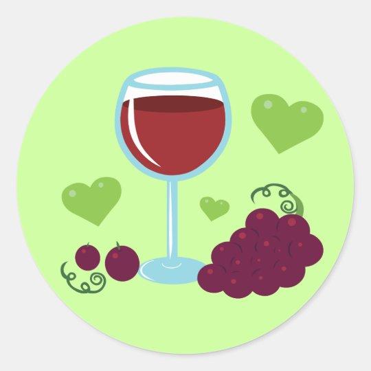 Wine Lover Classic Round Sticker