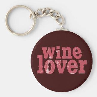 Wine Lover Basic Round Button Keychain
