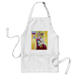 Wine lover, loves chihuahua adult apron