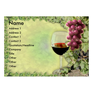 Wine Lover..? Master of the Art of Making Wine..? Large Business Card