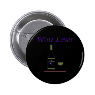 WINE LOVER_OLIVE PINBACK BUTTON