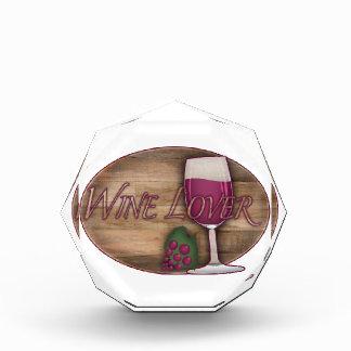 Wine Lover on Wood Oval Acrylic Award