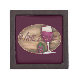 Wine Lover on Wood Oval Keepsake Box