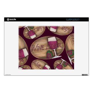 Wine Lover on Wood Oval Skins For Laptops