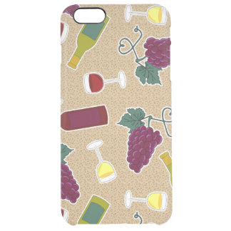 Wine Lover Pattern Clear iPhone 6 Plus Case