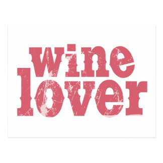 Wine Lover Post Card