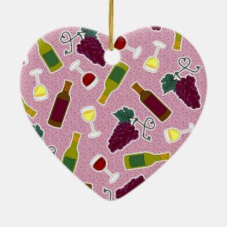 Wine Lover Print Purple Christmas Ornament