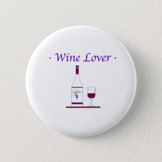 WINE LOVER_PURPLE PINBACK BUTTON