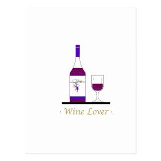 WINE LOVER (SINGLE BOTTLE) POSTCARD