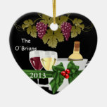 WINE LOVERS 2013 ORNAMENT PERSONALIZED