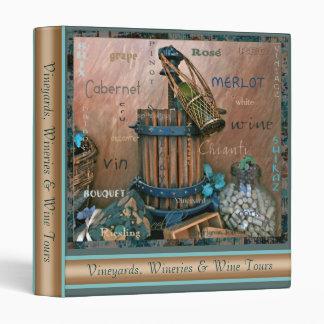 Wine Lovers Bold Turquoise Rust Photo Binder