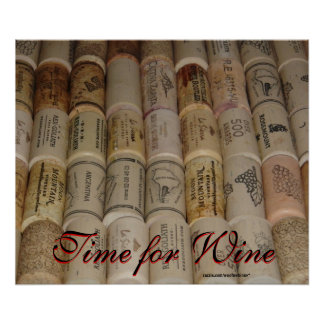 Wine Lovers Corks - Time for Wine Print