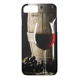 Wine Lover's custom monogram phone cases