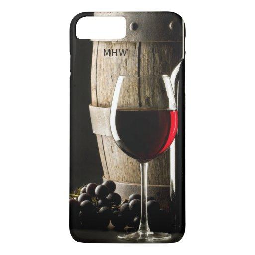 Wine Lover Custom Monogram Case-Mate Barely There iPhone 8 Plus/7 Plus Case