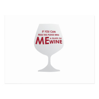 Wine Lovers Funny Gift If you can read this please Postcard