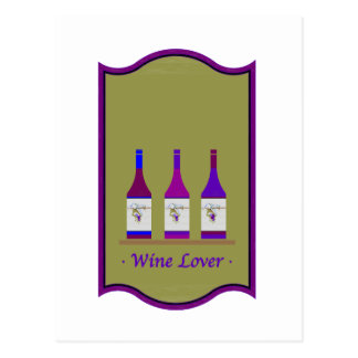 """WINE LOVERS"" LOGOS POSTCARD"