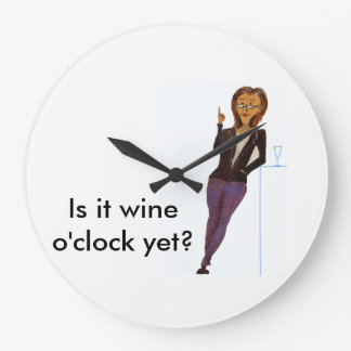 Wine Lover's Round Clock