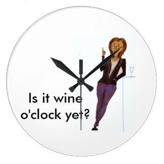 Wine Lover's Round Clock