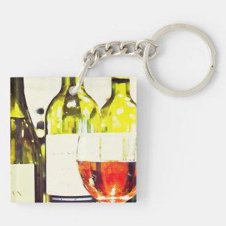 Wine Lovers Watercolor Keychain