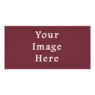 Wine Magenta Color Trend Blank Template Custom Photo Card