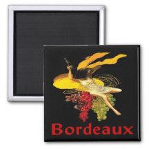 Wine Maid Bordeaux Magnet