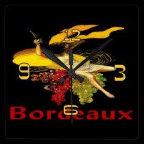 Wine Maid Bordeaux wall clocks
