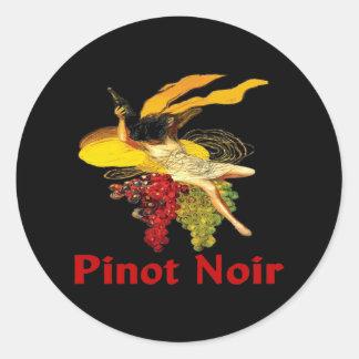 Wine Maid Pinot Noir Classic Round Sticker