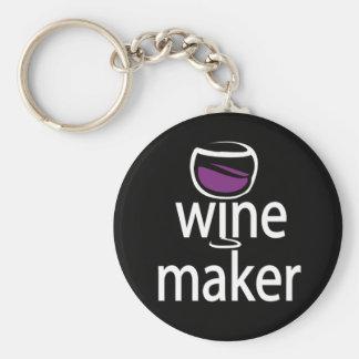 Wine Maker Basic Round Button Keychain