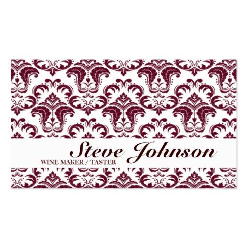 Wine Maker Taster Ornamental Business Card Winery