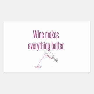 wine makes everything better.jpg rectangular sticker