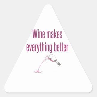 wine makes everything better.jpg triangle sticker