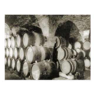 Wine making 1900 2 postcard