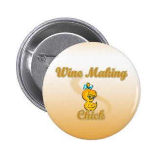 Wine Making Chick Button