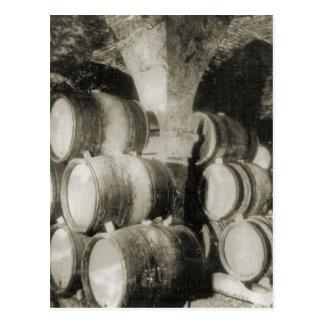 Wine making Wine barrels 1 Post Cards