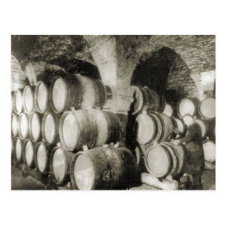 Wine making Wine barrels Post Cards