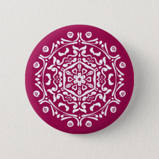Wine Mandala Pinback Button