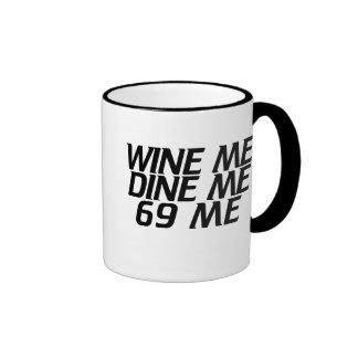 Wine me cena taza de dos colores