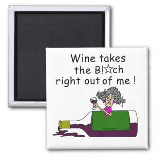 Wine Mellows Me 2 Inch Square Magnet