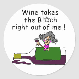Wine Mellows Me Classic Round Sticker