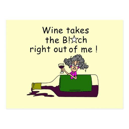 Wine Mellows Me Postcards
