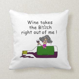 Wine Mellows Me Throw Pillows