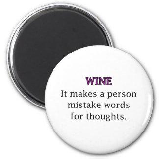 Wine Mistakes 2 Inch Round Magnet