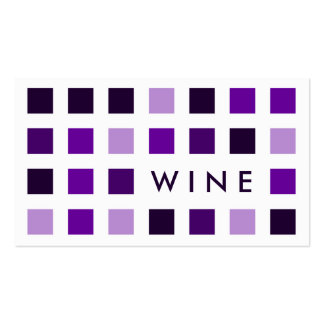 WINE (mod squares) Business Cards