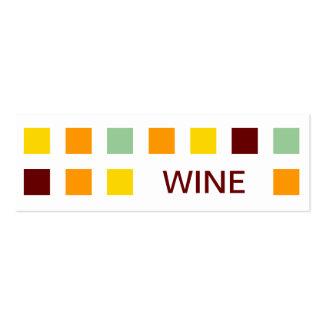 WINE (mod squares) Mini Business Card
